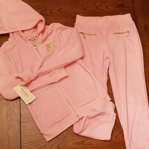🆕️Juicy Couture 2 piece set / pink, gold